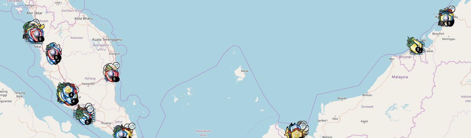 S2G MY Malaysia Live Pokemon Go Map - Main page - S2G